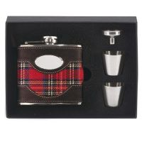 Vision Brown leather & Tartan Flas</br>HF010